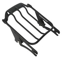 Air Wing Two Up Luggage Rack For Harley Touring Road King Glide 2009-2019 Black