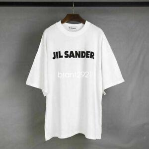 Casual JIL SANDER Short Sleeve Cotton Loose Short Sleeve T-Shirt Unisex White