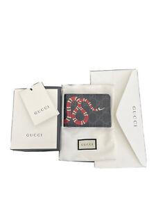 GUCCI Kingsnake print GG Supreme wallet RRP $470