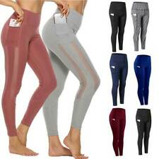 Damen Yoga Leggings Mit Tasche Push Up Sporthose Fitness Leggins Hosen FITTOO