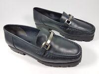 Clarks black leather mocassin shoes uk 4 eu 37