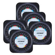 5X Dental Ortho Ceramic Brackets Braces 5*5 Roth Slot.022 Hooks 3 4 5 AZDENT