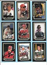 1990 Maxx Autograph Nascar Lot(9) Hamilton, Rudd, Bodine, Sabates,