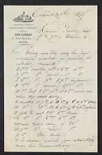 "ORLEANS (45) VERRERIE PORCELAINE CRISTAL ""RAYE & CORNEAU"" en 1875"