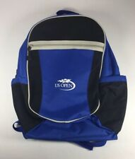 "Us Open Tennis 18"" Backpack Racket Pocket Blue Side Ball Travel Tournament Bag"