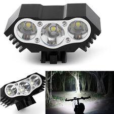 3X Cree T6 10000 Lumen LED Bicycle Bike Head Light Lamp Headlight Headlamp Torch