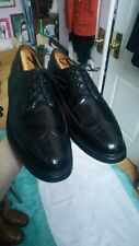 Vintage 1960s Florsheim Imperial Kenmoor Wingtips V Cleat Dress Shoes Size 8.5 D