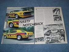 """1969 Ford Mustang Coupe Vintage Street Macine Article """"Nasty Notchback"""""""