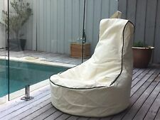Pura Indoor/Outdoor Bean Bag – Water Resistant Chair Lounger Day Bed Pool Deck
