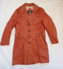 1970's Vintage FIGHT CLUB Buttery Leather Pimp Jacket Trench Coat 40