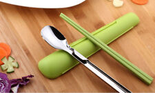 Artiart Chopsticks & Spoon Set Japan Kitchen Flatware Pack Metal Plastic Cutlery