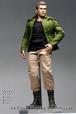 mcs0153 Green Khaki Clothing Set Jacket+Vest+Pants+Belt+Boots for 1/6 Figure