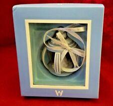 Wedgwood Blue Jasperware Round Ball Xmas Holiday Ornament White Tree, Nib