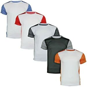Men's Short Sleeve Crew Neck Lightweight Gym Biking Training Activity T-Shirt