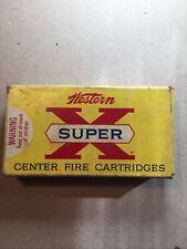 Vintage WesternSuperX243 Winchester [6 mm ] 80 Gr Ptd Soft Point Empty Ammo Box