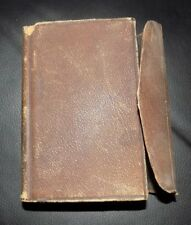ANTIQUE HOLY BIBLE - 1867 American Bible Society - Leather Cover Very Good Cond
