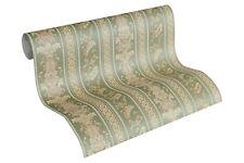 Luxus Vliestapete Ranken Streifen Optik grün gold glanz 33547-4 Hermitage