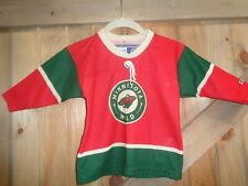 MINNESOTA  WILD  CCM MADE IN CANADA  JERSEY TODDLER ONE SIZE