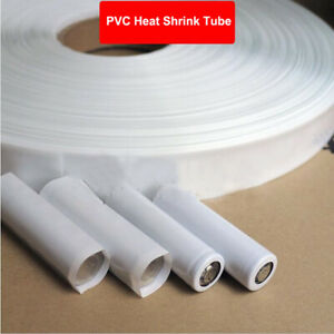 White PVC Heat Shrink Tubing Sleeve RC Battery Electronic Pack Wraps Insulation