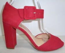 Vince Camuto Size 9.5 M SHELBIN3 Red Leather Heels Sandals New Womens Shoes
