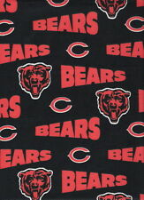 """NFL Chicago Bears Cotton Fabric 4 Pieces 12"""" X 12"""""""