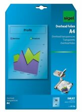Sigel IF110 InkJet Transparency Film, clear, coated, auto feed, 100 mic, A4, 10