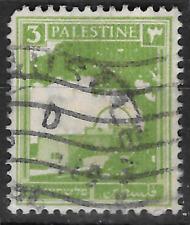 Palestine Palestina Palästina 3 milliemes light-green postage stamp - see scan