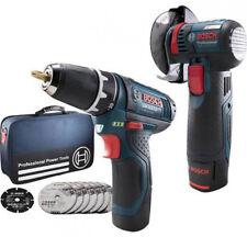 Set-Angebot! Bosch Akku-Set 10,8 Volt GWS 10,8-76 und GSR 10,8-2 Li mit 2 Akkus!