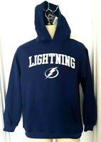 TAMPA BAY LIGHTNING Youth Hoodie Size XL 14/16 Stitched Logos Sweatshirt New
