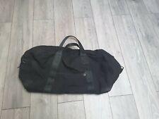 More details for vintage  ex german army black canvas travel bag & shoulder strap dated 1996