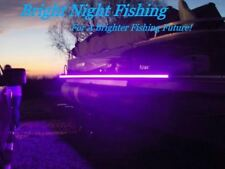 16 ft UV LED Strip Black Light Night Fishing Ultraviolet Boat 12v DC  WHITE PCB