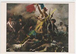 """CP Postcard Eugene Delacroix Der """" Liberté """" Guidant Der Volksmusik"""