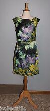 Suzi Chin for Maggy Boutique Watercolor Print Dress Size 8P 8 Petite