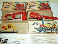 Model Railway 00 Gauge Airfix Lowmac & JCB 2x 15 Ton Diesel Crane kits built