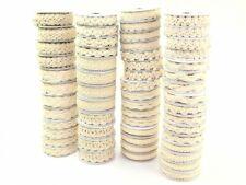 Deco Cotton Lace Decorative Fancy Ribbons Assorted Designs - Cream