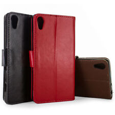 Protective Faux Leather Wallet Flip Pouch Phone Cover Case for Sony Xperia Z4v
