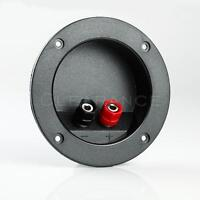 New Round Input Speaker Terminal Cup Wire Cable Box Connector Subwoofer Connect