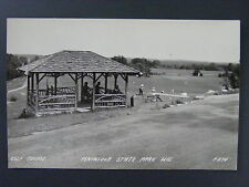 Peninsula State Park Wisconsin WI Golf Course Real Photo Postcard RPPC 1940s