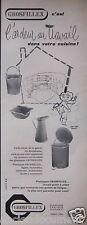 PUBLICITÉ 1956 PLASTIQUE GROSFILLEX - JEAN LOUIS RONDET - ADVERTISING