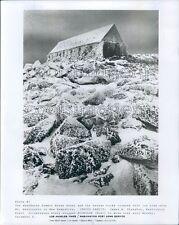 1976 Abandoned Summit House Hotel Mount Washington New Hampshire Press Photo