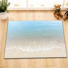 """15X23"""" Kitchen Bath Doormat Non-Slip mat Rug Carpet waves on white sand beach"""
