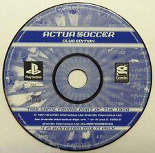 Jeu ACTUA SOCCER Club Edition sur playstation 1 ps1 one francais sport foot ball