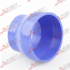 """3 PLY 3"""" TO 2'' INCH STRAIGHT REDUCER 76.2MM SILICONE HOSE COUPLER PIPE BLUE"""