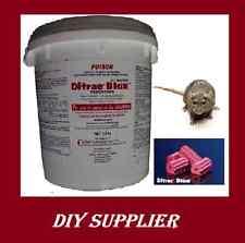 8kg DITRAC BLOX Rodent Poison Killer BULK Mouse Mice Rat Bait Brodifacoum Blocks