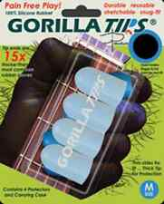 GORILLA TIPS FINGERTIP GUARDS/PROTECTORS for GUITAR BANJO UKULELE MEDIUM CLEAR