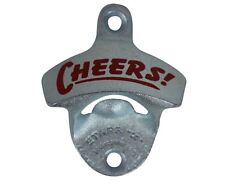 """""""Cheers"""" new wall mounted beer bottle opener bar decor with screws"""