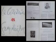 LE COURRIER GRAPHIQUE n°48 1950 SENEFELDER, DARAGNES, ALPHABET, IMPRIMERIE