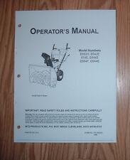 MTD E662H E642E 614E 644E E664F E6A4E SNOW THROWERS OWNERS MANUAL W/ PARTS LIST