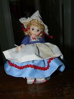 "Madame Alexander Dutch Girl Doll  Marked Alexander approx. 7 1/2"" tall Cute !"