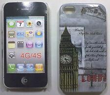 COVER CUSTODIA RIGIDA APPLE IPHONE 4- 4S CARTOLINA GRAN BRETAGNA LONDON BIG BEN